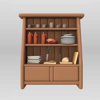 lwo cartoon cabinet