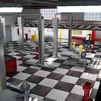 car service station 3d model