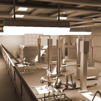 3d service station model