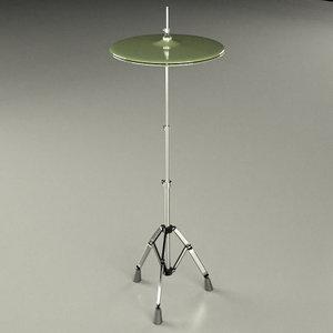 3d hi-hat cymbal model