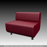 3d lether squwer sofa model