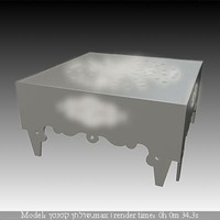 lighted metal table white.max