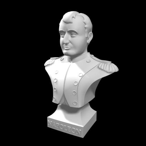 imperator napoleon bust 3d max