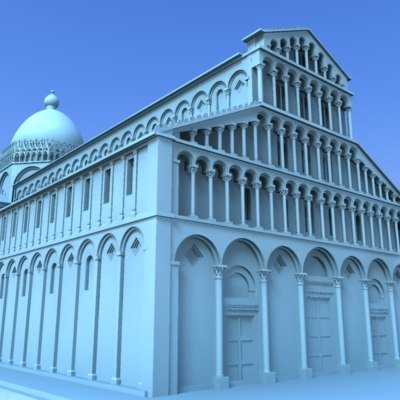 3d pisa cathedral model