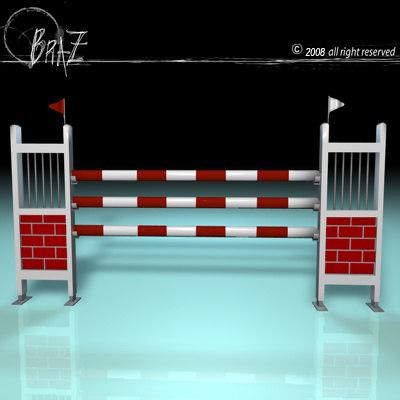3d model white-red jump