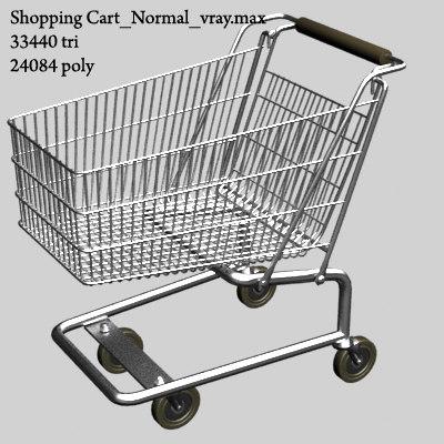 3d model v-ray shopping cart