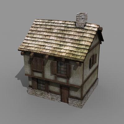 3d building rpg house model