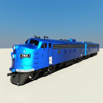3d emd f7 model