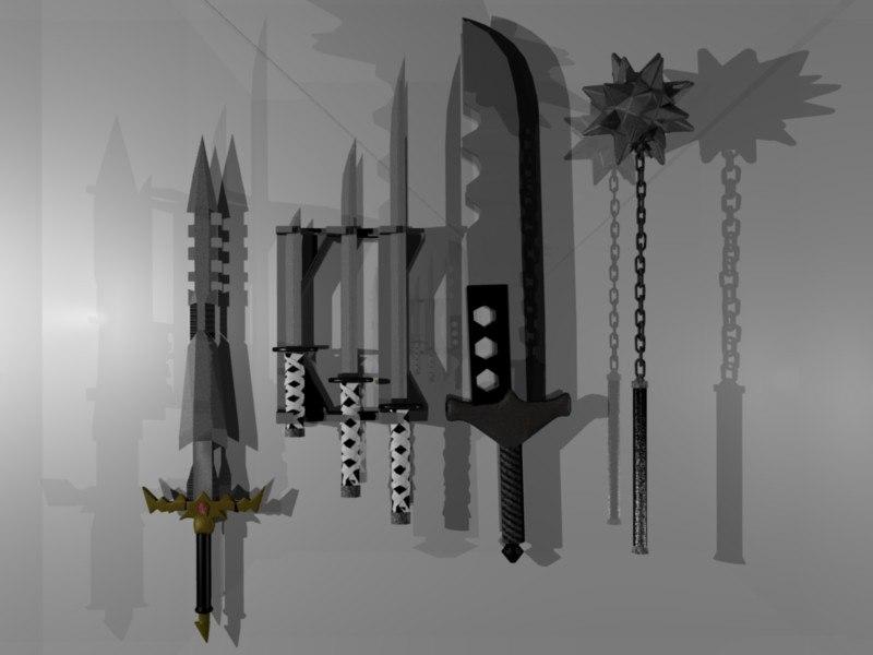 3d sword katanas syth