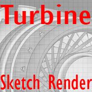 turbine post 3d model