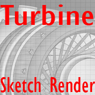 Turbine Engine (With Sketch Effect)