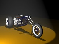 3d concept motorcycle