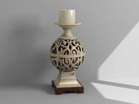 3d decorative candle model