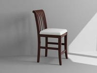 3d bistro chair model