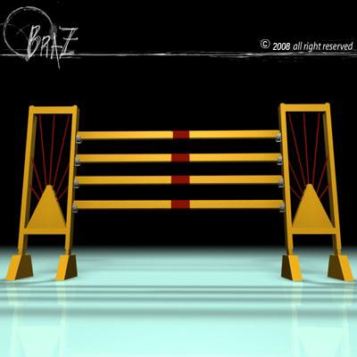 yellow jump 3d model