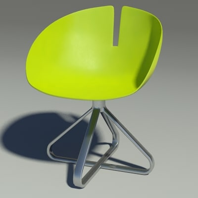 3d model fjord chair revolution green