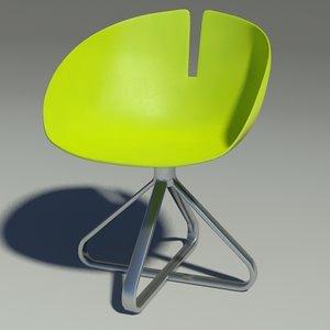 3d model fjord chair revolution green