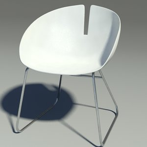 3ds max fjord armchair stainless