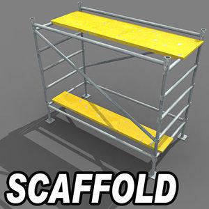 3d metal scaffold model