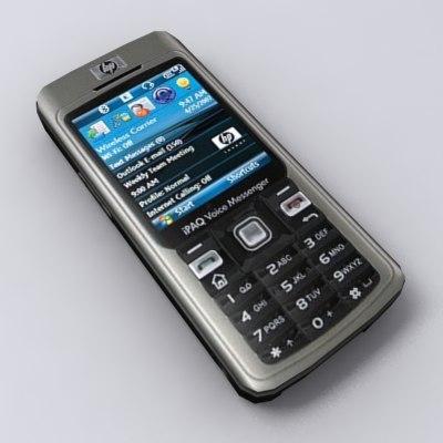 3d model ipaq 514 cell phone