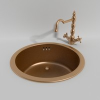 3d model classic kitchen sink