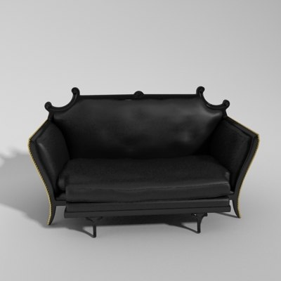 maya black leather sofa