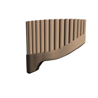 3d model flute