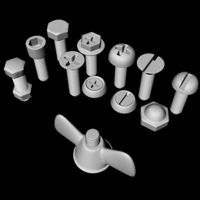 3d screw threads model