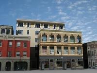 3d 5 buildings model