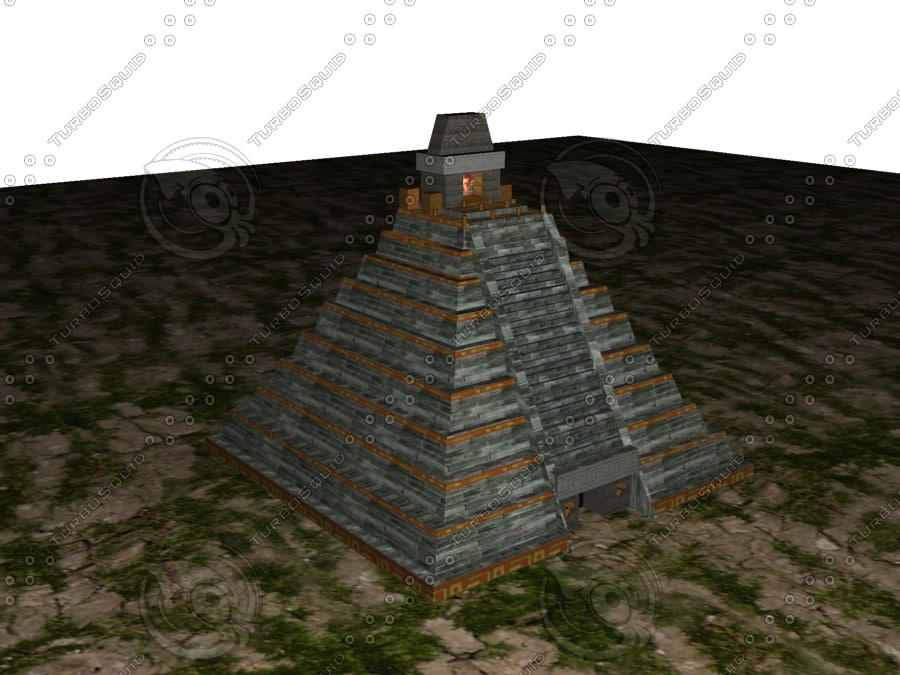 3d aztec pyramid model