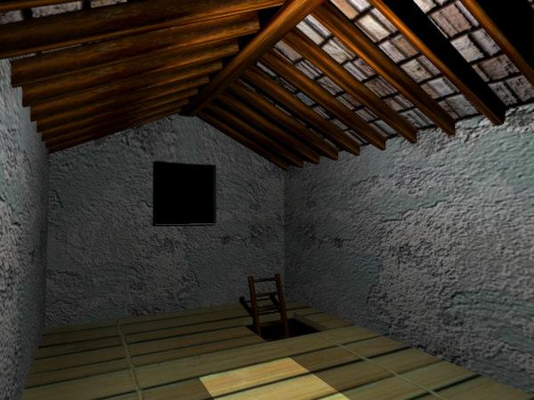 attic room 3d model