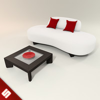 bean couch coffee table 3d 3ds