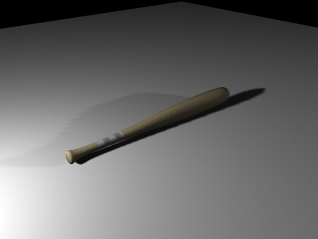 3ds max baseball bat