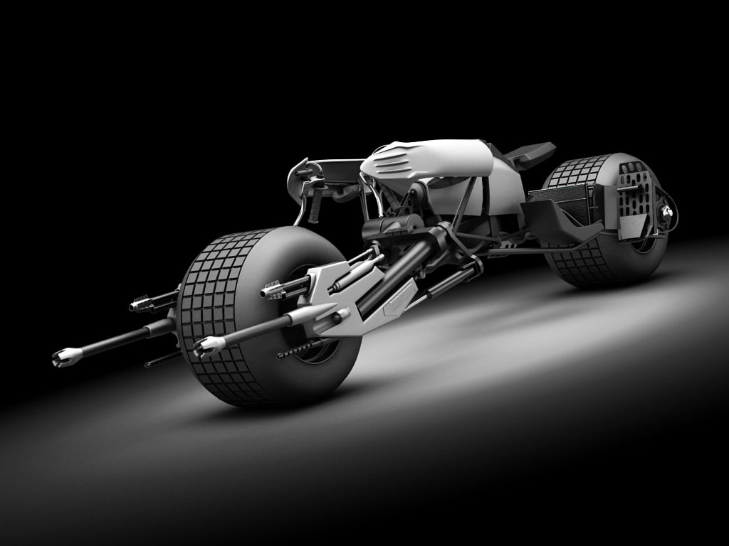 3d batpod bike batman