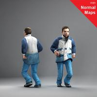axyz human characters 3d model