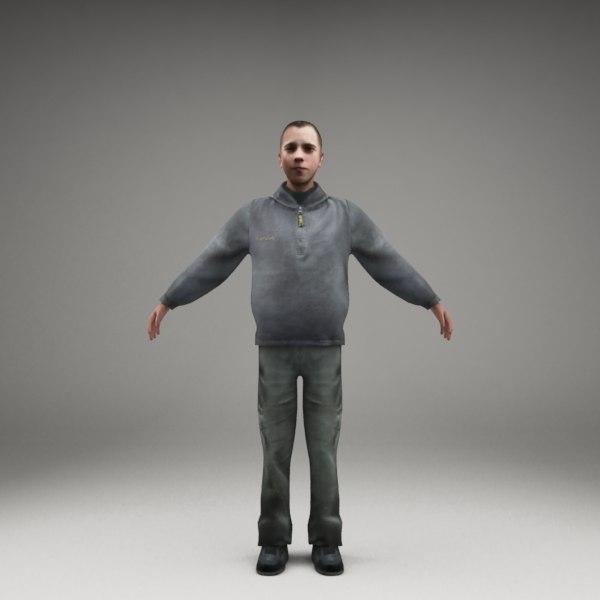 3d model axyz character