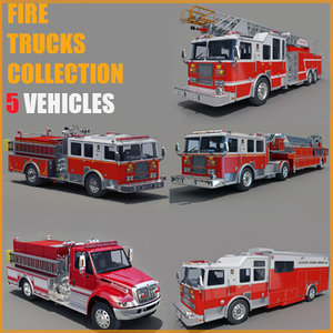 trucks commercial pumper 3d model