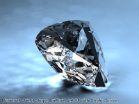 3d model of diamonds unusual shapes 9