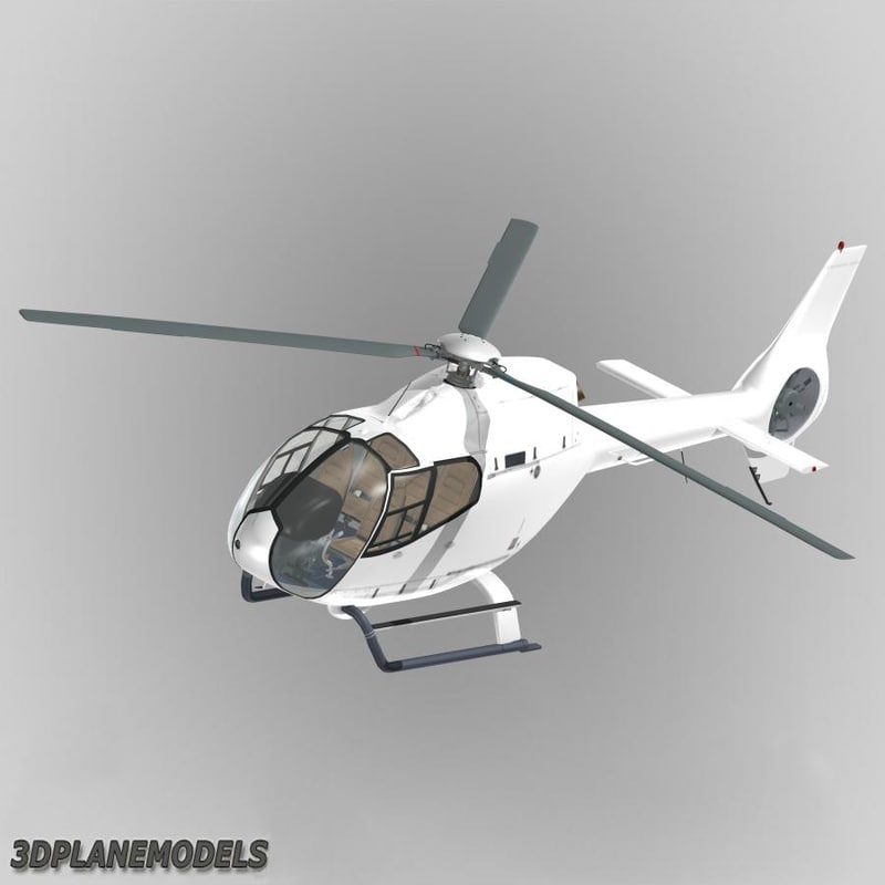3d eurocopter ec-120b generic white