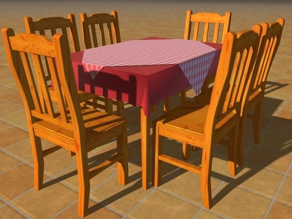 dining table c4d free