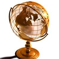 3d model desk globe vintage