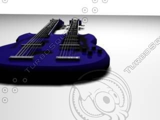 3d model double neck guitar