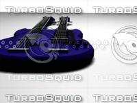 3d model double neck guitar