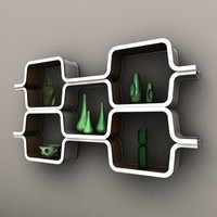 honeycomb shelf vases 3ds