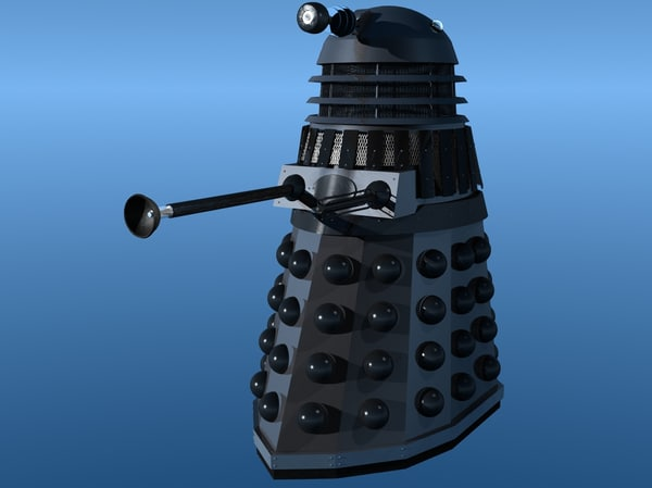 3d dalek bbc science model