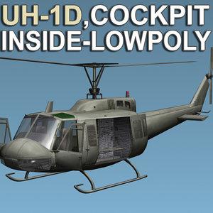 3d helicopter cockpit model