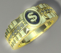 3d man s ring jewelry