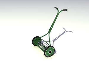 manual lawnmower 3d 3ds