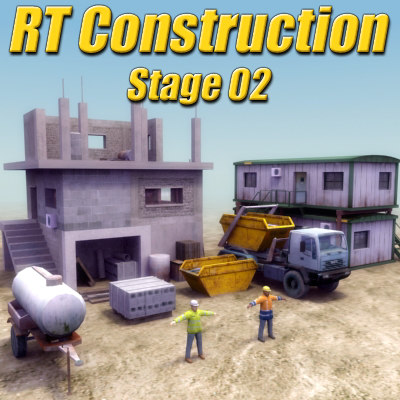 3d model construction site