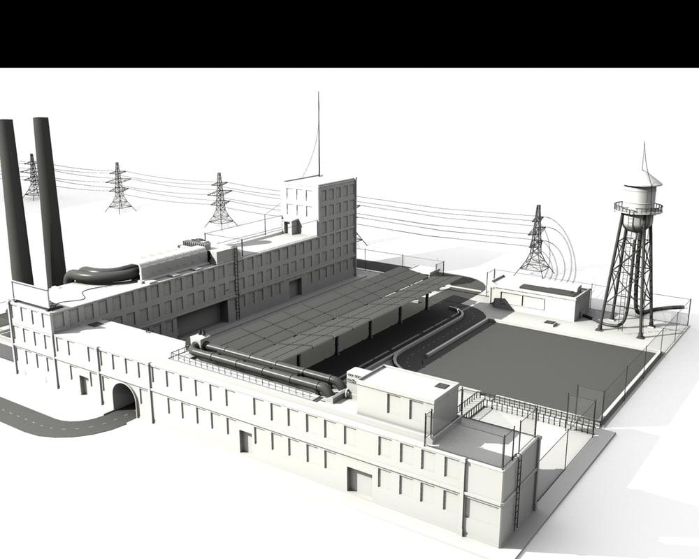 3d 3ds factory elements